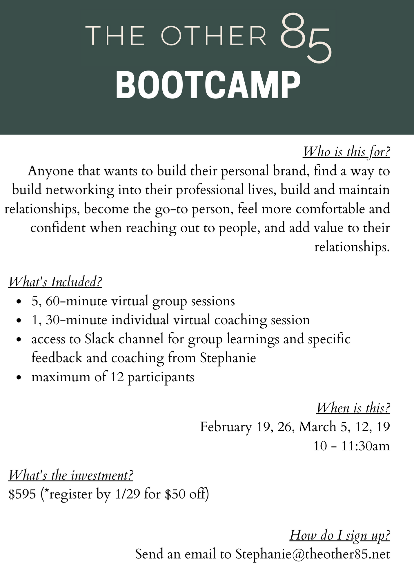 The Other 85 Bootcamp (1)